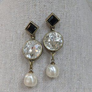Heidi Daus Essential Sparkle Earring - Black/White